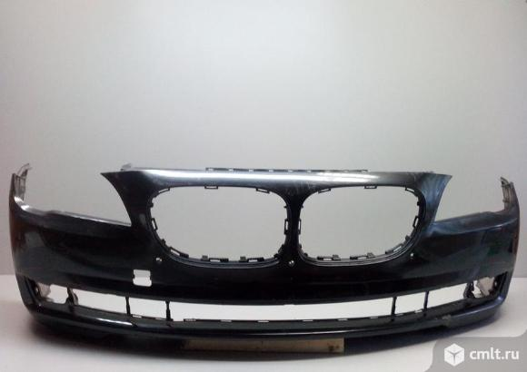 Бампер передний под омыв.фар и паркт. BMW F01 F02 7-ER 09-13  б/у 51117238751  51117183865 3*. Фото 1.