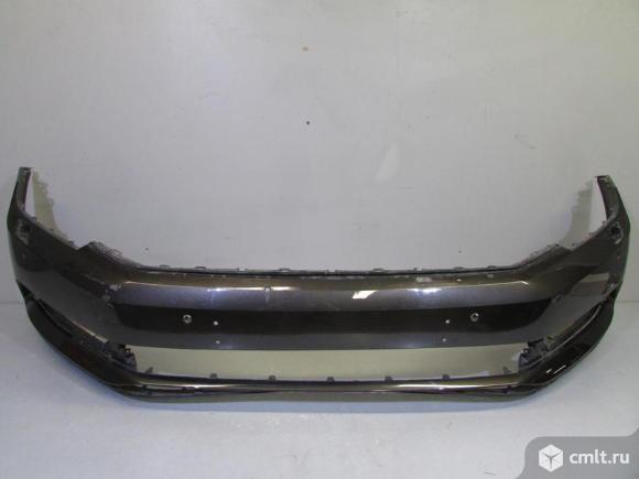 Бампер передний под омыв. фар и парктр.VW PASSAT B8 16- б/у 3G0807217KGRU 2*. Фото 1.
