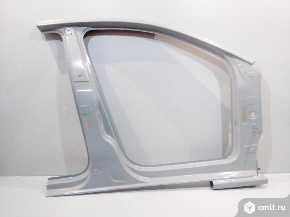 Боковина кузова правая стойка передняя VW POLO седан 11- новая 6RU809052B 4*. Фото 1.