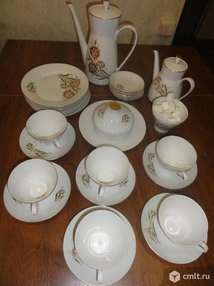 Сервиз чайный ГДР 28 предметов. Фото 1.
