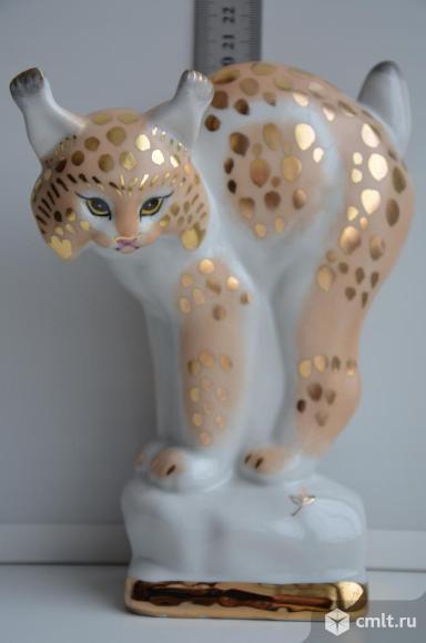 Статуэтка Рысь. Вербилки. Животные звери кошка
