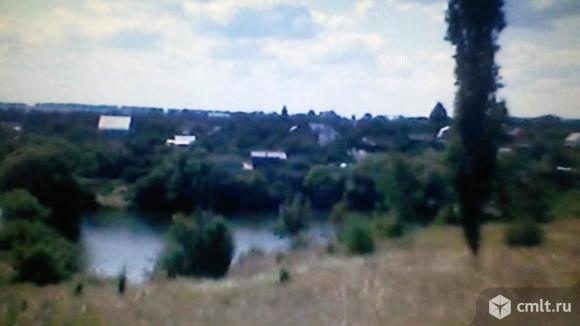Участок 8 сот.пруд река асфальт 13км снт-восход2. Фото 1.