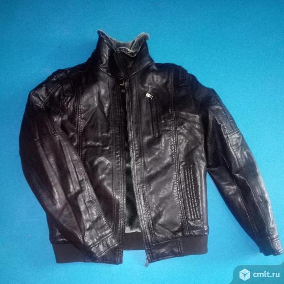 Новая зимняя куртка кожаная р 50. Фото 1.