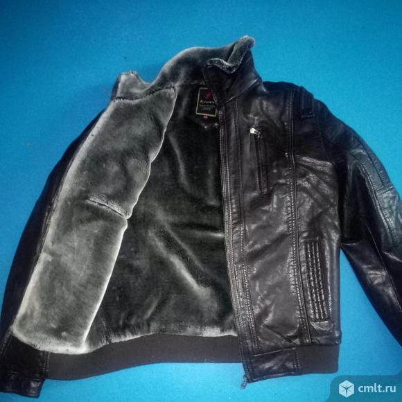 Новая зимняя куртка кожаная р 50. Фото 3.
