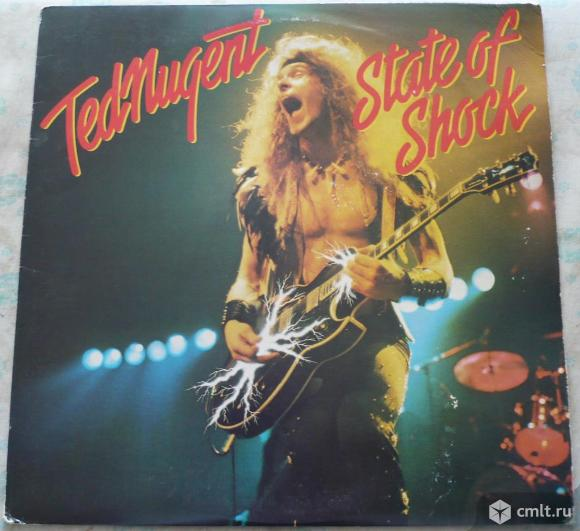 "Грампластинка (винил). Гигант [12"" LP]. Ted Nugent. State Of Shock. 1979 CBS Inc. Epic Records. США.. Фото 1."