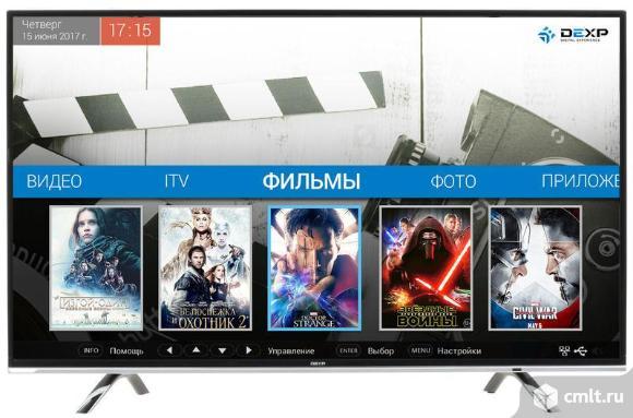 Новый ЖК-телевизор DEXP U43D9100K 4K,Android,WI-FI