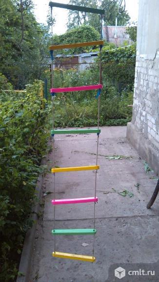 Продам качели детские подвесные, лестница подвесная. Фото 1.