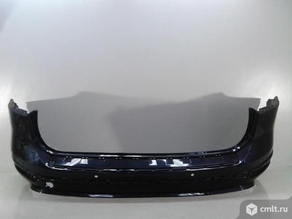 Бампер задний + спойлер VW TOUAREG 15-17 б/у 7P6807421FGRU 7P6807521KGRU 3*. Фото 1.