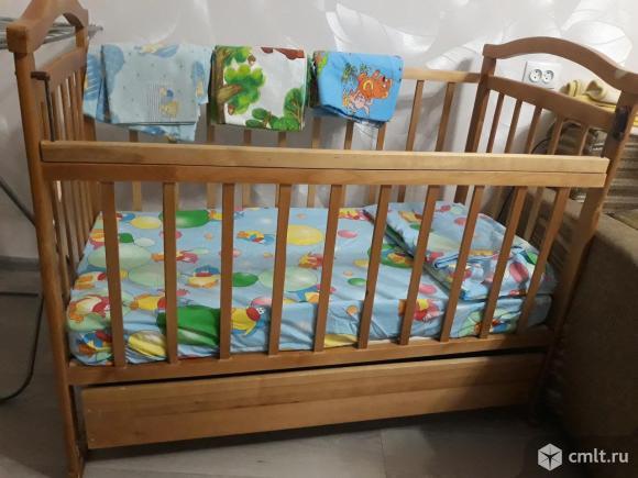 Продаю детскую кроватку+матрац+постельное белье