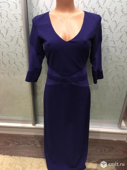 Продаю темно-синее вечернее платье из трикотажа