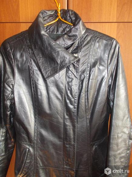Куртка кожаная, демисезонная.
