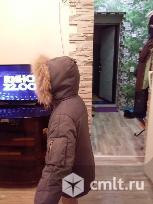 Куртка пуховик с капюшоном из нат.меха.