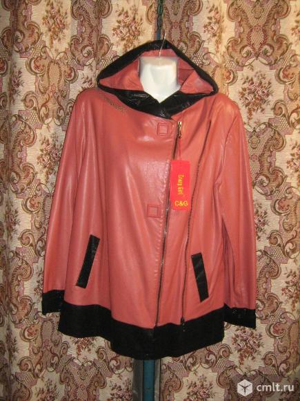 Куртка оосенняя из искусственной кожи. Фото 1.