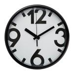 ЮККЕНастенные часы, белый, черныйРазмер25 смБатарейки продаются отдельно, требуется 1 батарейка LR6 AA 1,5 В.