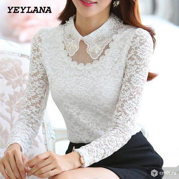 Блузка белая. Фото 1.