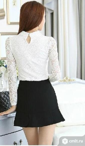 Блузка белая. Фото 2.