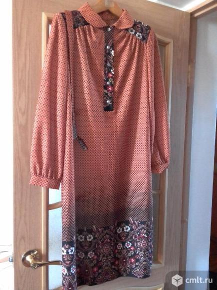 Платье из тонкого цветного трикотажа. Фото 1.
