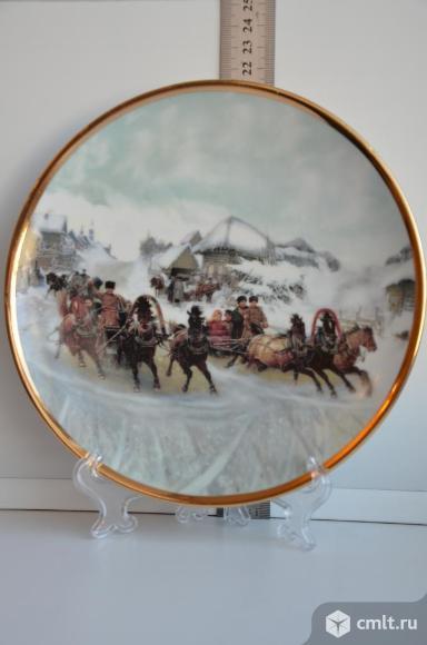 Дулево тарелка декоративная Масленичные катания