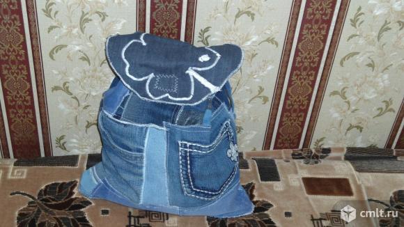 Рюкзак джинсовый эксклюзив ручной работы