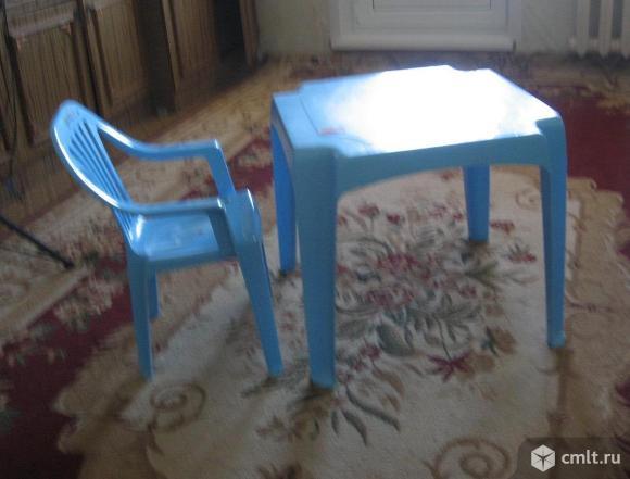 Детский столик и стульчик Пластишка