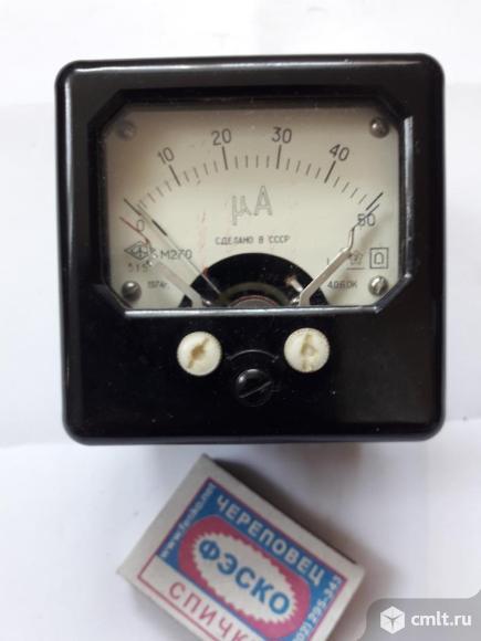 Микроамперметр. Фото 1.
