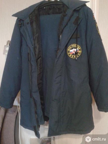 Зимняя куртка и комбинезон МЧС. Фото 1.