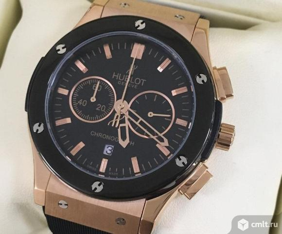 Мужские часы Hublot новые бесплатная доставка. Фото 1.