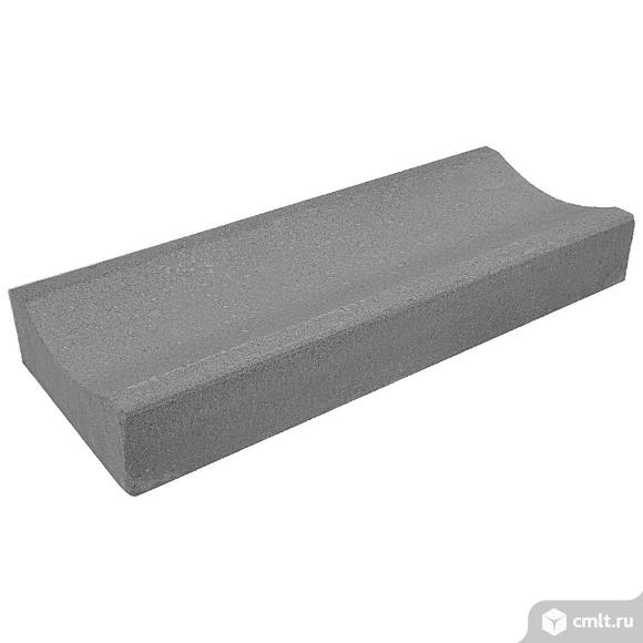 Лоток водосточный вибропрессованный 500х200х70мм, серый, (60шт, упаковка). Фото 1.