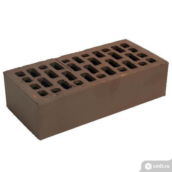 Кирпич лицевой керамический Браер, коричневый, 1,0НФ, М150, (480шт, упаковка). Фото 1.