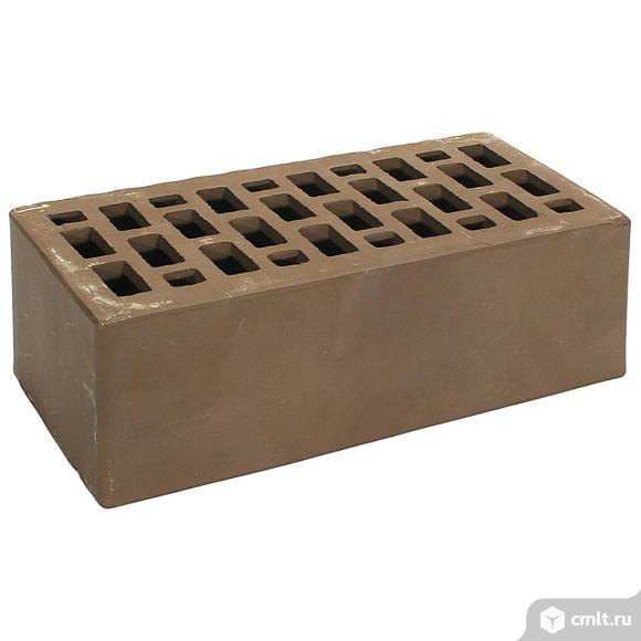 Кирпич лицевой керамический Рязанский, коричневый, гладкий, 1,4НФ, М150, (352шт, упаковка). Фото 1.
