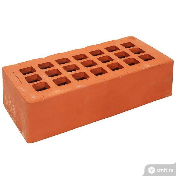 Кирпич лицевой керамический Железногорский, красный, гладкий, 1,0НФ, М125, (480шт, упаковка). Фото 1.