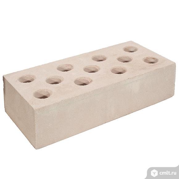 Кирпич лицевой силикатный Глубокинский, персик, ложок-тычок, 1,4НФ, М150, (288шт, упаковка). Фото 1.