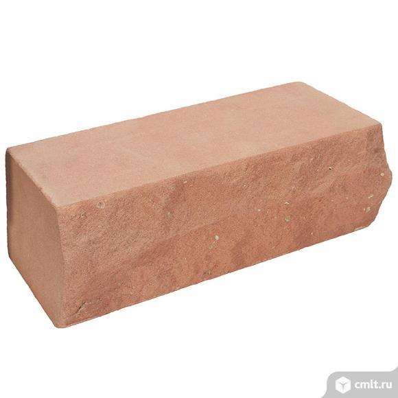 Кирпич лицевой силикатный Глубокинский, персик, ложок, 1,4НФ, М150, (288шт, упаковка). Фото 1.