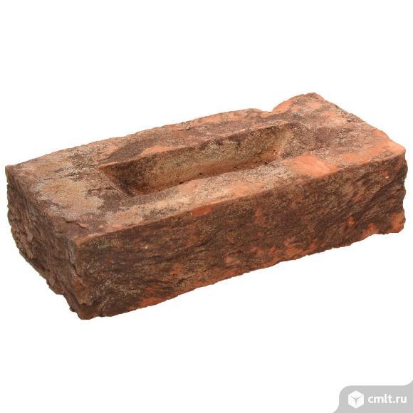 Кирпич лицевой керамический Екатеринославский, слива с нюансом, 1,0НФ, М150, (336шт, упаковка). Фото 1.