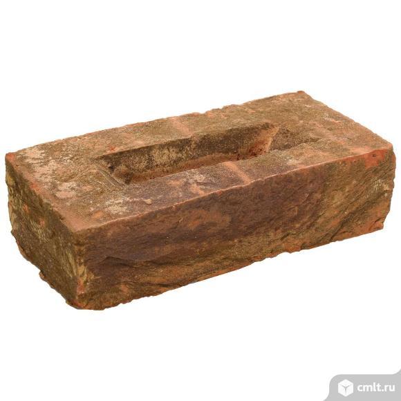 Кирпич лицевой керамический Екатеринославский, античный мох, 1,0НФ, М150, (336шт, упаковка). Фото 1.