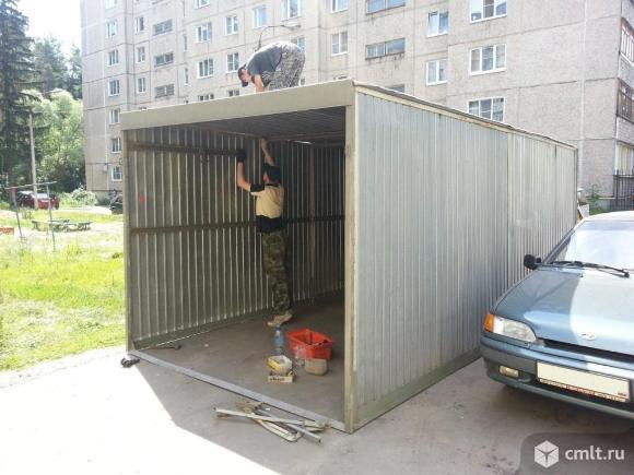 Металлический гараж 18 кв. м. Фото 3.