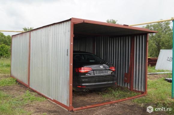 Металлический гараж 18 кв. м. Фото 1.