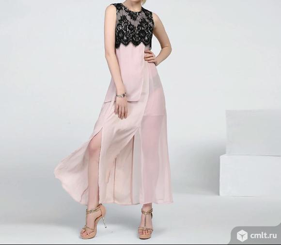 Новое шифоновое  летнее платье фирмы Miegofce L (44-46). Фото 1.