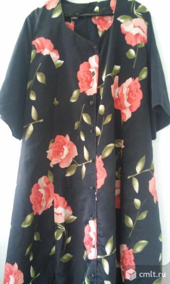 Платье-халат и легкий пиджак на очень большой размер. Фото 1.