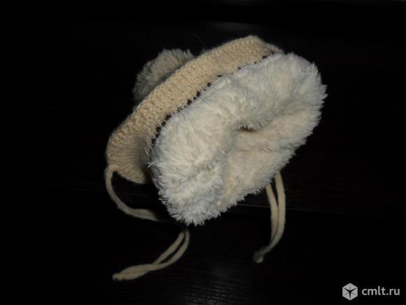 Зимняя шапка с мехом внутри (0+). Фото 3.