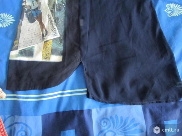 Блуза синяя с рисунком. Фото 3.