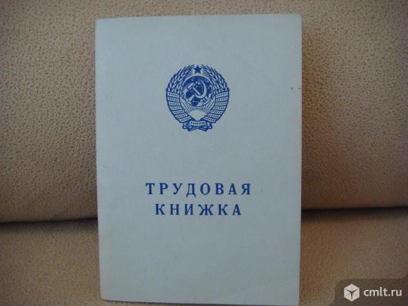 Бланк трудовой книжки (чистый) AT-VII. Фото 1.