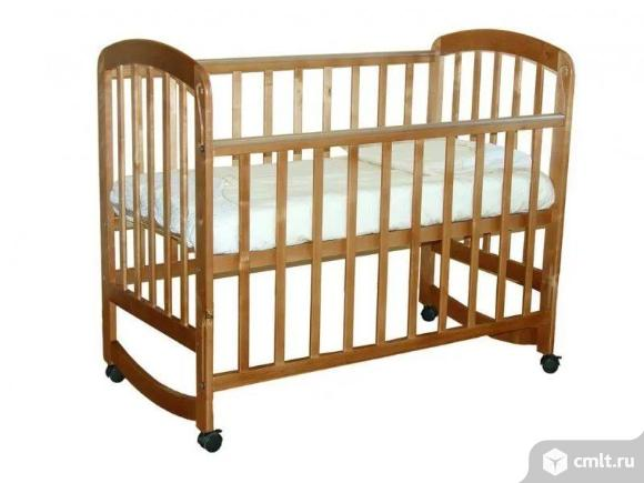 Кроватка детская Фея с матрасом. Фото 1.