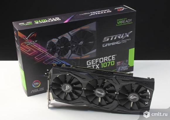 Видеокарта ASUS GeForce GTX 1070. Фото 1.