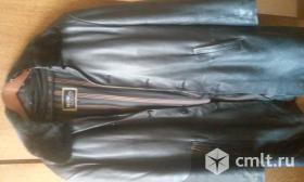 Кожаный удлиненный пиджак