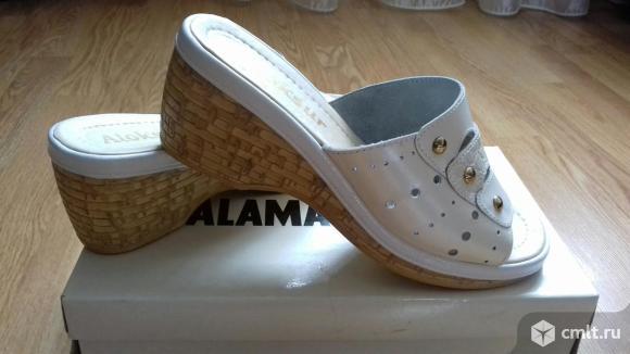 Продаю новые кожаные туфли (сабо). Фото 1.