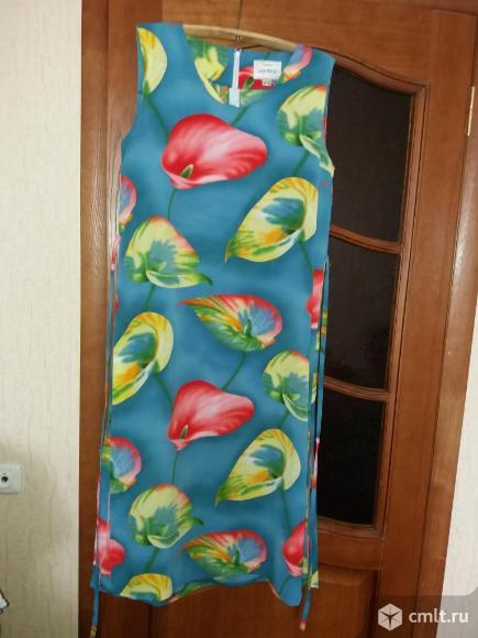 Легкое летнее платье / сарафан 52- 54р длинное в отличном состоянии, без дифектов.. Фото 1.