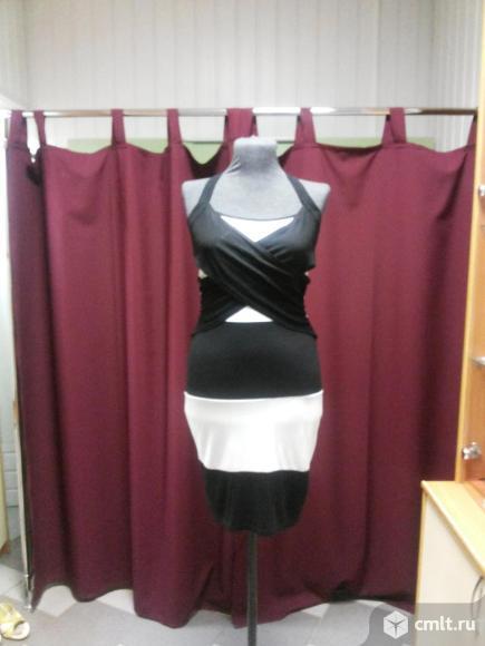 Летнее черно-белое платье. Фото 5.