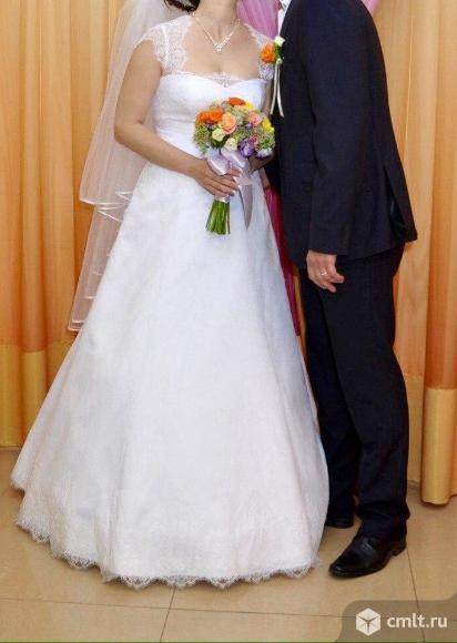 Свадебное платье. Фата+кринолин в подарок!. Фото 1.