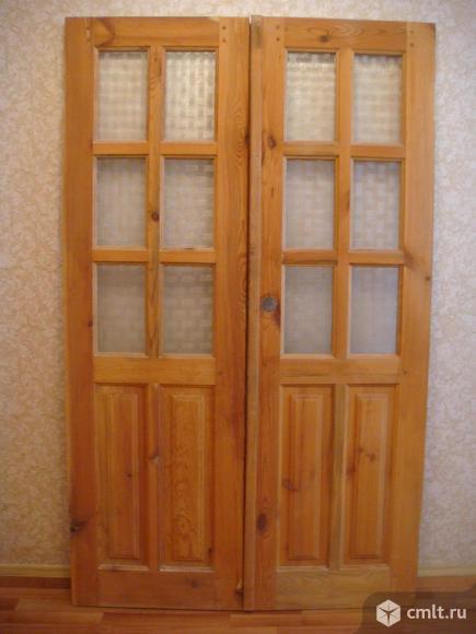 Дверь двухстворчатая межкомнатная 120Х200(сосна). Фото 1.